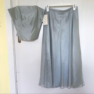 NWT Two Piece Shimmery Organza Bridesmaids Dress